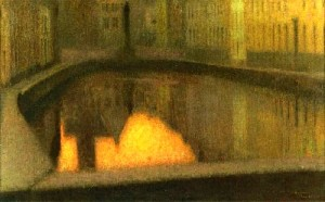 Henri-Le-Sidaner-xx-Canal-in-Bruges-xx-Private-collection