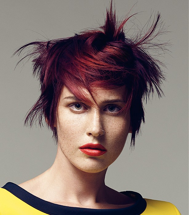 Sassoon Short Red Straight Hairstyles Yoko S Haute Coiffure