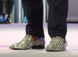 Ted's sparkly shoes!
