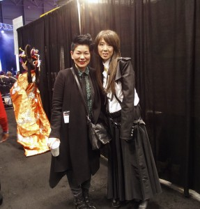 Me posing with renown Japanese artist Lisa Yamasaki.