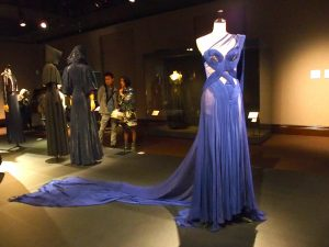 "Blue dress named ""L'Oiseau Bleu"" (blue bird) designed by Jean Paul Gaultier."